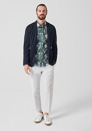 Slim: Sakko aus Leinen-Blend