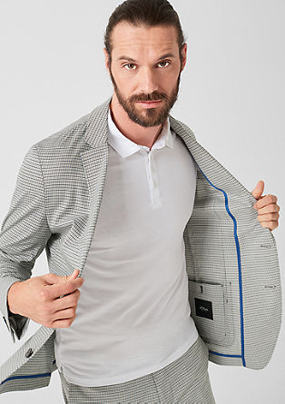 Slim: check sports jacket from s.Oliver