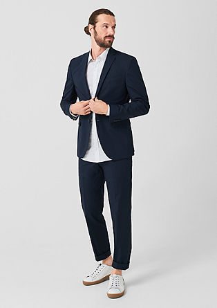 Slim: Cotton satin suit jacket from s.Oliver