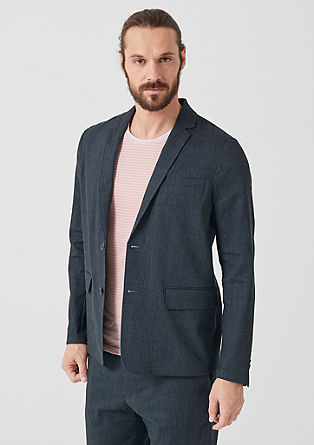 Relaxed: linen jacket with pinstripes from s.Oliver