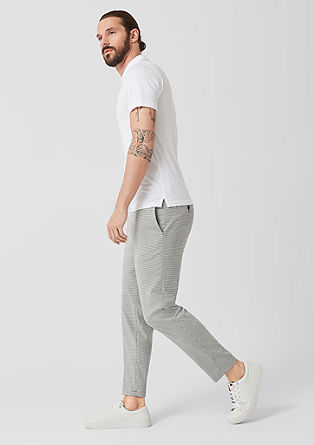 Slim: check suit trousers from s.Oliver