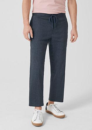 Relaxed: lanene hlače s tankimi črtami