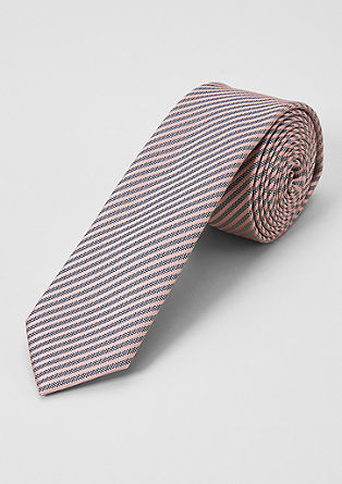 Črtasta kravata iz svilene mešanice