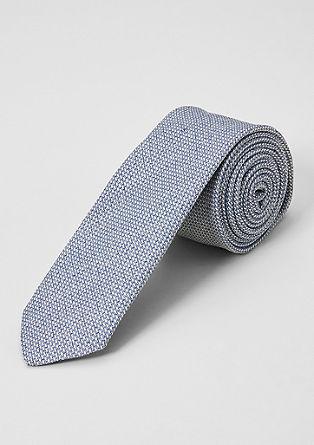 Kravata iz svilene mešanice s tkano teksturo