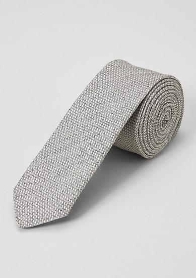 Seidenmix-Krawatte mit Webstruktur