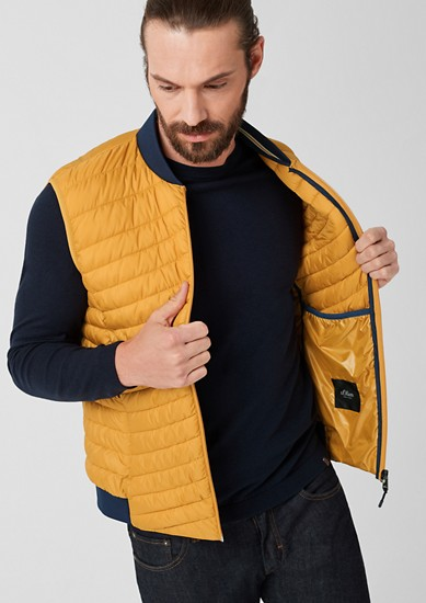 Quilted body warmer with a light down finish from s.Oliver