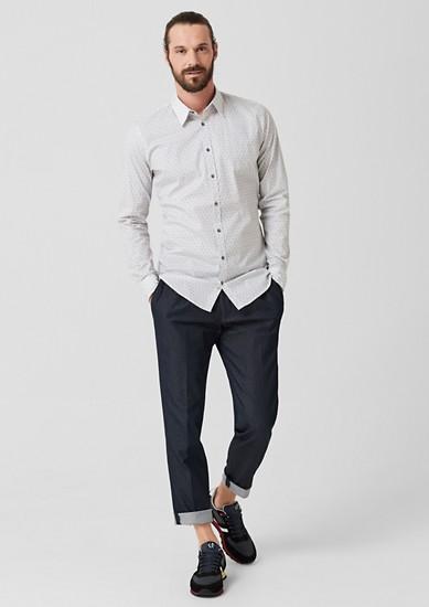 Slim: chemise stretch à motif imprimé de s.Oliver