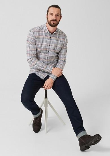 Slim: Kariertes Button Down-Hemd