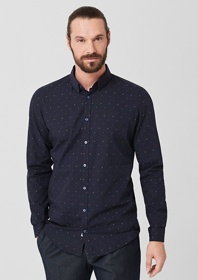 Slim: Patterned business shirt from s.Oliver