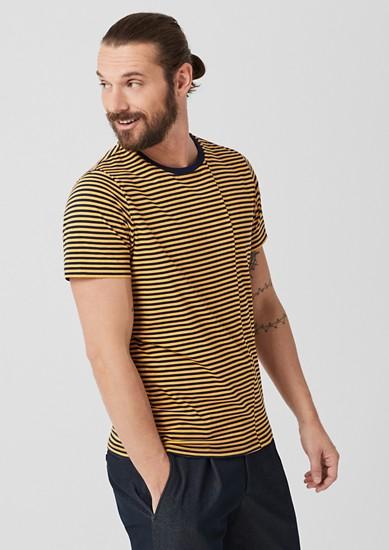 Baumwollshirt im Ringel-Look