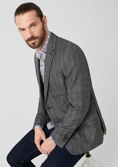 Slim: veston individuel à carreaux de s.Oliver