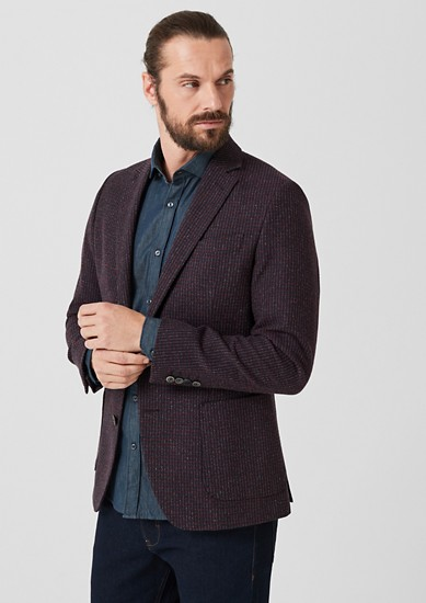 Slim: Sports coat with a woven texture from s.Oliver