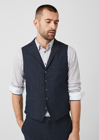 Slim: gilet in een denim look