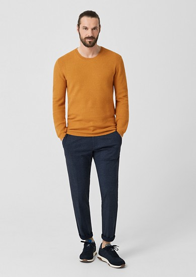 Knit jumper with silk and cashmere from s.Oliver