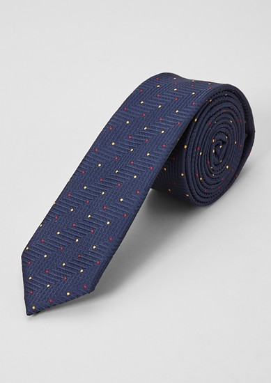 Silk blend tie with textured pattern from s.Oliver