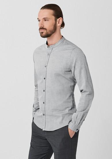 Slim: Stehkragenhemd