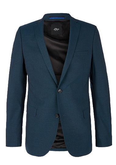 Slim: melange sports jacket from s.Oliver