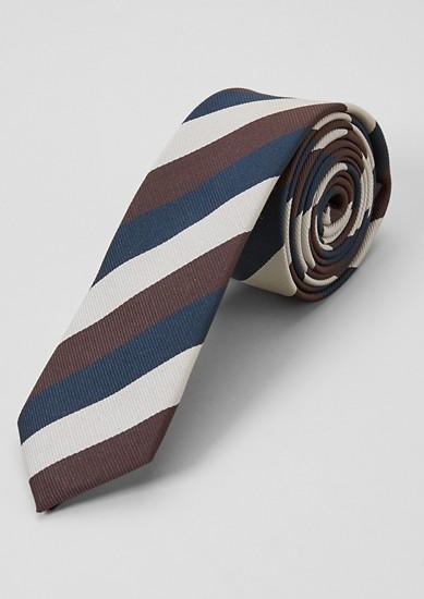 Cravate rayée en soie mélangée de s.Oliver