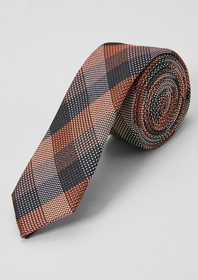 Cravate en soie mélangée animée d'une structure tissée de s.Oliver