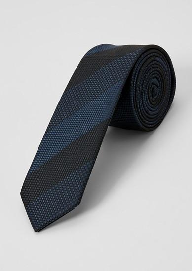 Cravate en soie mélangée animée d'un motif tissé de s.Oliver