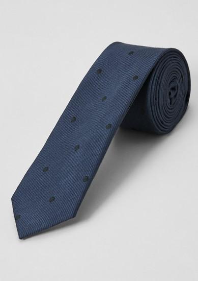 Cravate à pois animée d'une structure tissée de s.Oliver