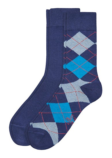Set van 2 paar argyle sokken