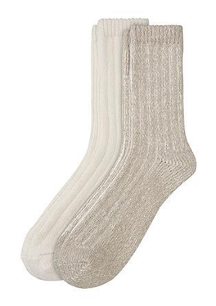 2er-Pack weiche Rippstrick-Socken