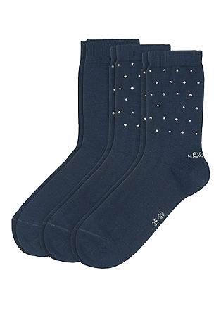 3er-Pack Socken mit Nieten