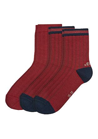 Set van 3 paar ribgebreide sokken