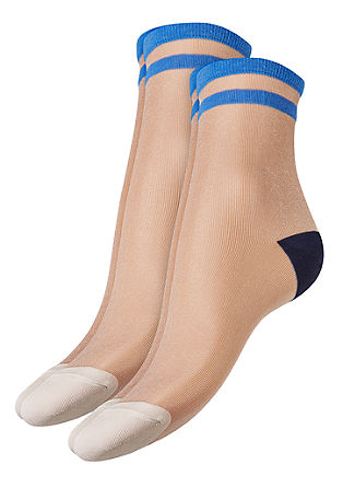 2er-Pack transparente Socken