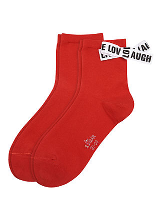 2er-Pack Socken mit Schleife