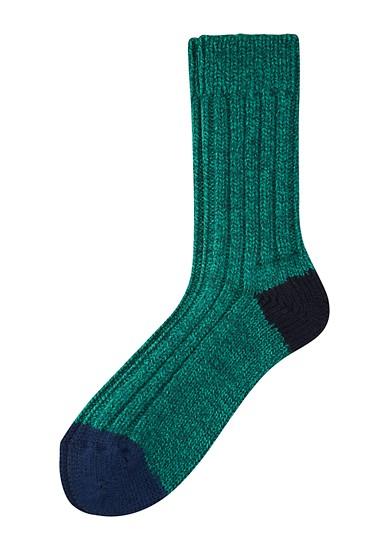 Gebreide sokken van een wolmix