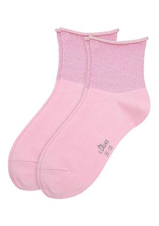 2er-Pack Socken mit Glitzer