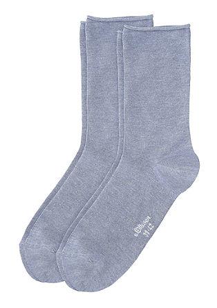 Set van 2 paar sokken met rolboordje