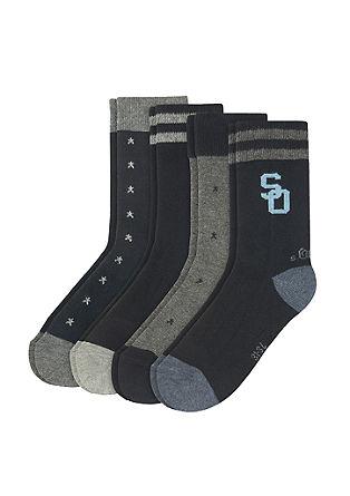 Gemusterte Socken im 4er-Pack