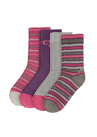 4er-Pack gemusterte Socken