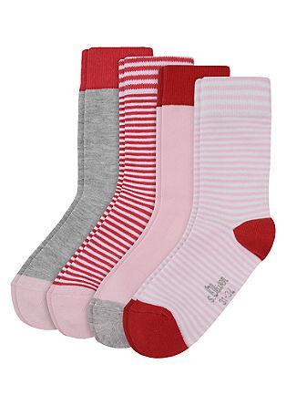 4er-Pack geringelte Socken