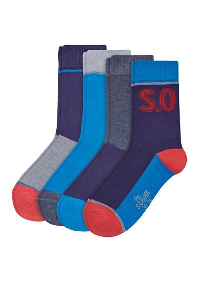 Set van 4 paar junior sokken