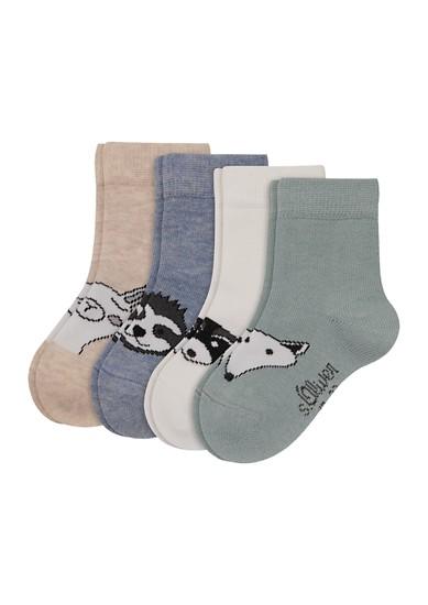 Set van 4 paar sokken met motief