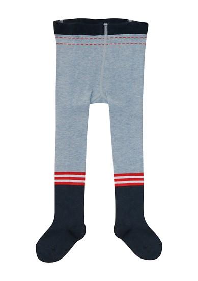 Panty met afgezette voetgedeeltes