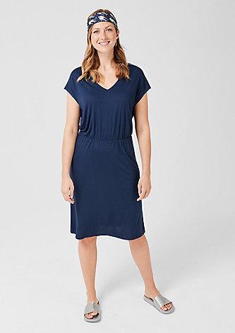 V-Neck-Kleid aus Jersey