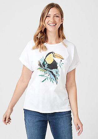 Artwork-Shirt aus Jersey
