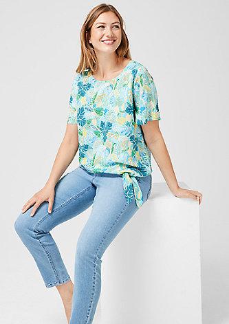 Sommerliche Bluse mit Knoten-Detail
