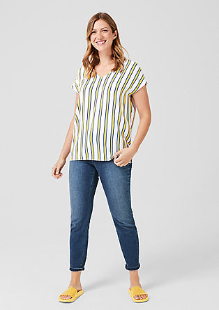 Crêpe striped blouse from s.Oliver