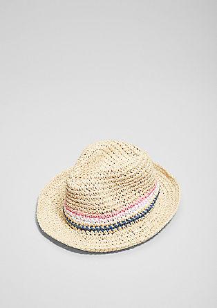 Hut mit bunten Streifen