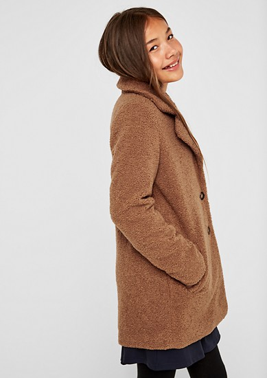 Plush coat from s.Oliver