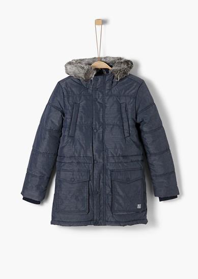 zimní kabát skapucí zimitace kožešiny