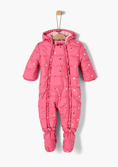 Winter jumpsuit with a glittering heart from s.Oliver