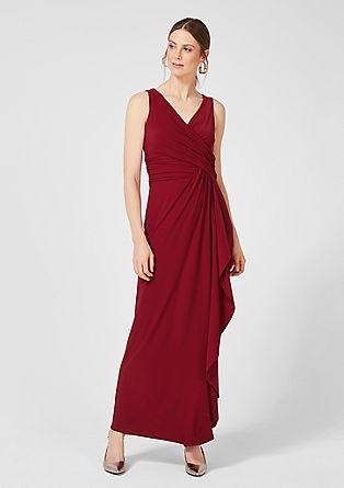 Jersey jurk met een wikkeleffect