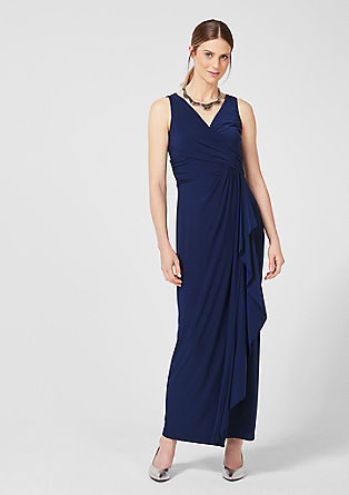 Jersey dress with a wrap-over effect from s.Oliver